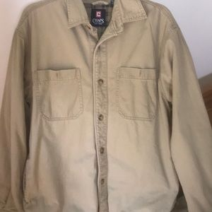 Chaps Lined Button Down Shirt/Jacket Size M